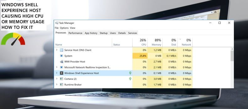 Windows Shell Experience Host verursacht hohe CPU-Auslastung